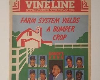 September 1988 Chicago Cubs Vineline Newspaper