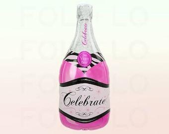 Large Champagne Bottle Balloon - Bachelorette Party -  Hen Party - Celebration - engagement - NK0558 - NK0559