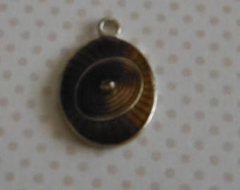 Small brown Oval Pendant