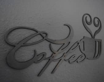 Coffee Cup Metal  / Metal Coffee Cup Sign Art