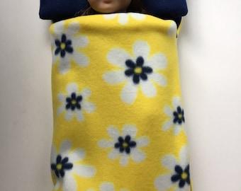 "18"" Flowered Fleece Baby Doll Sleeping Bag"