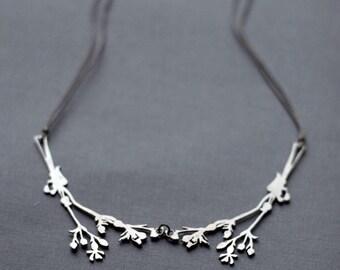 Steel Wild Flowers Necklace