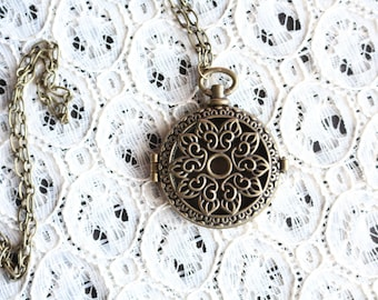Brass Diffuser Necklace | Aromatherapy Necklace | Essential Oil Locket | Oil Diffusing Jewelry