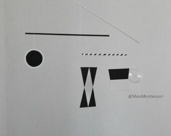 La Montessori Visual serie de móvil/móvil: Plantilla móvil Munari (Turco) 60-70 mm