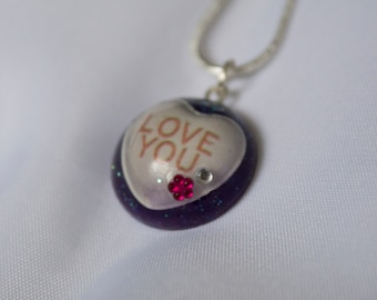 Love Heart - Resin Pendant