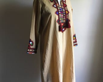Indian Embroidered Top • Indian Embroidered Tunic • Bohemian Rare  Tunic