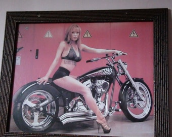 framed harley girl