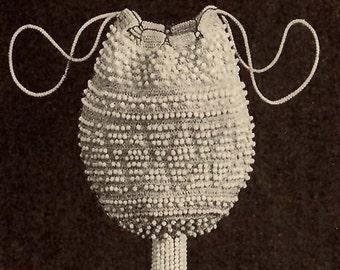1924 White Beaded Reticule Pattern