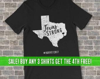 TEXAS STRONG Tee Harvey 2017 Shirt Houston Beaumont