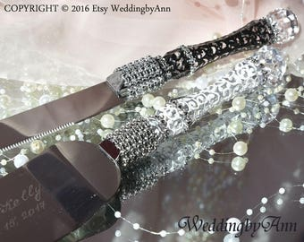 Wedding Cake Serving Set- Wedding Cake and Knife Serving Set- Wedding Cake Accessories, wedding gift, Bridal shower