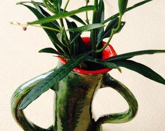 Vase with attitude, ceramic vase