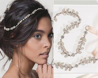 Silver Bridal Headband, Bridal Hair Accessories, Wedding Headpiece, Bohemian Wedding Accessories, Bohemian Headpiece, Prom headpiece,H065-1S