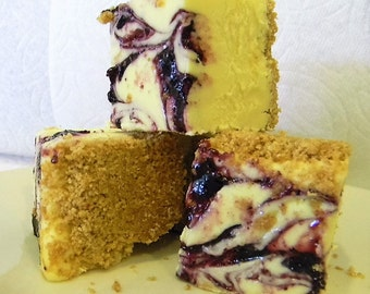 Julie's Fudge - BLUEBERRY Lemon Cheesecake - One Pound