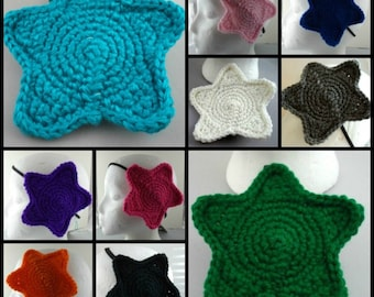 Crocheted Large Star Headband (choose your color)