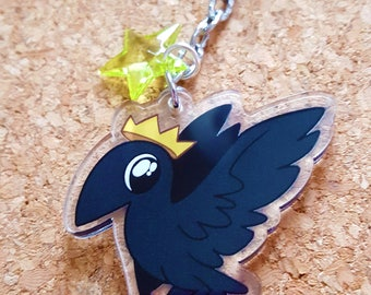 Crow King Acrylic Keychain Charm