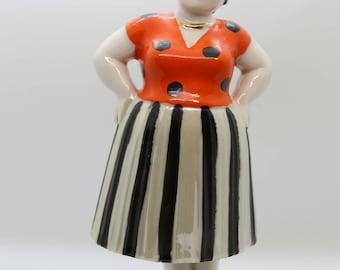 USSR Porcelain 1950's Fat Woman LZFAE Factory