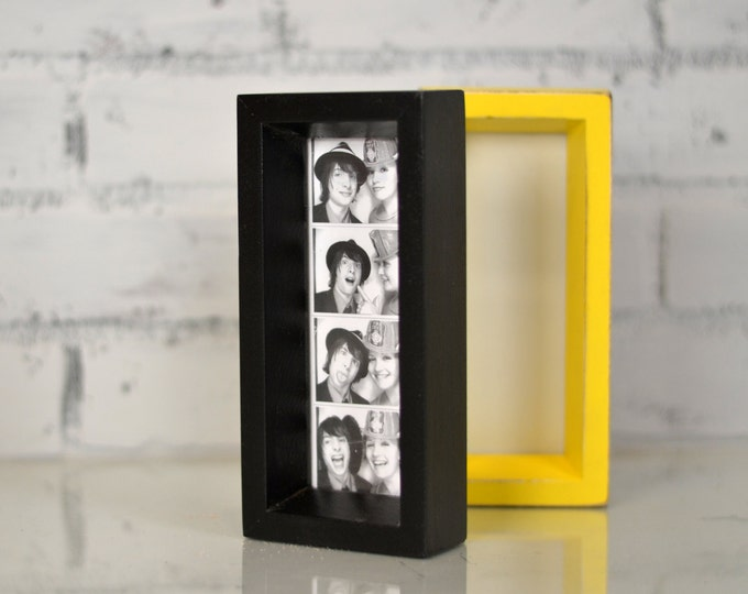 "Photo Booth Frame 2 x 6 for Picture Strip in Park Slope Style and in COLOR of YOUR CHOICE - 2x6"" Wedding Photo Booth Frame - Wedding Favor"