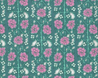 Amy Butler Splendor Pincushion Floral Sage PWAB168 100% Quilters Cotton - You choose the Length