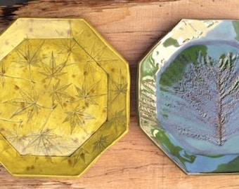 geometric plates, ceramic