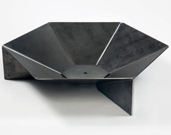 """Modern Steel Origami Fire Pit 36"""" FREE SHIPPING"""