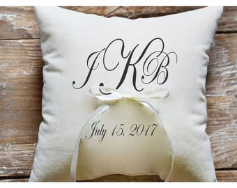 Ring bearer pillow, Wedding ring pillow , wedding pillow ,personalized ring pillow, ring bearer pillow (R3)