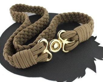 Tan Braided Rope Vintage Belt size Medium