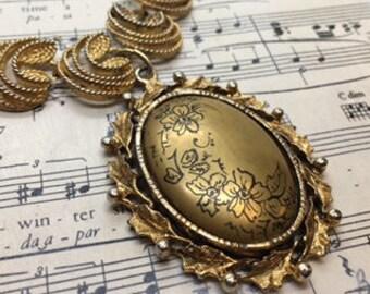 Vintage Necklace - Vintage Pendant - Vintage Assemblage - Assemblage Jewelry - Statement Necklace - One of a Kind