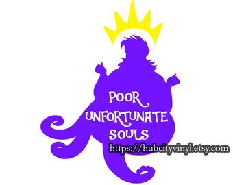 Ursula - Poor Unfortunate Souls - DIY IRON ON