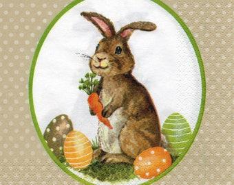 067 LE rabbit 1 lunch size paper towel