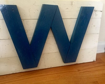 """Chicago Cubs """"W"""" Wall Art"""