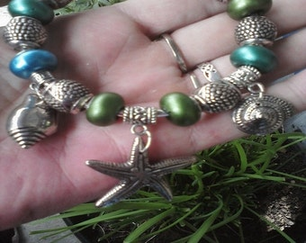 Shell bound, Euro style bracelet Special price