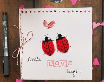 Valentines Card 'Little Love Bugs...' 3D