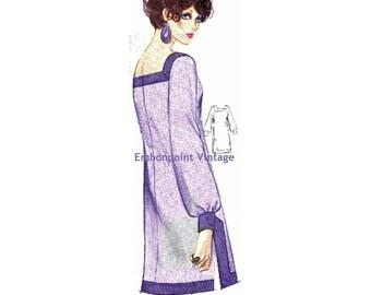 Plus Size (or any size) Vintage 1969 Dress Pattern - PDF - Pattern No 138 Iris