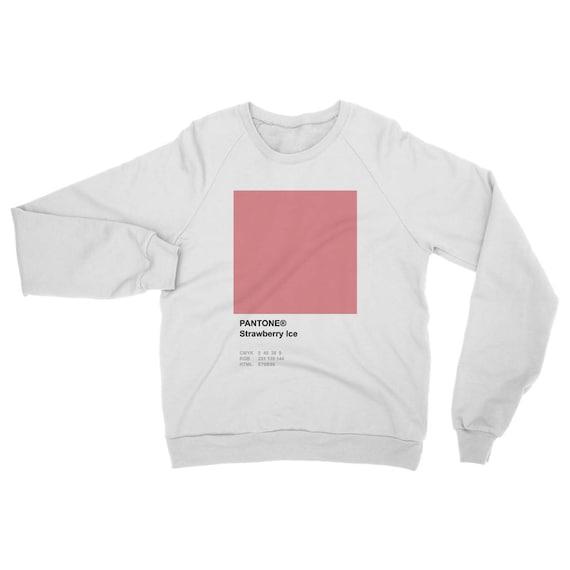 シ Vaporwave Aesthetic Pantone Strawberry Ice Unisex Sweatshirt シ epKVZtO