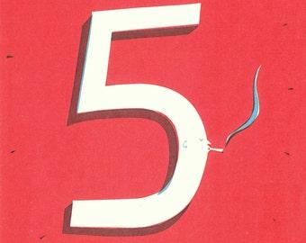 High 5 A4 Original Screen Printed poster
