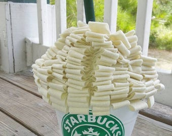 Starbucks inspired Coffee cup trick or treat  Halloween bucket