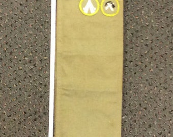 """Vintage Boy Scouts Of America 62"""" Sash With Patches Used Lot B"""