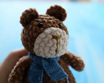 Plush bear Freddy, 18 cm, pretty and soft