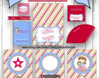 American Girl Doll Party Printable in Spanish DIY