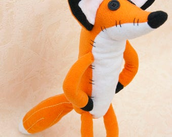Pdf sewing pattern Fox Stuffed Animal -Fox plush toy pattern, FREE SHIPPING fox from cartoon little prince- Zorro Película El Principito