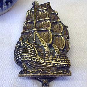 Vintage brass door knocker HMS Victory ship. Sailing ship door knocker. Antique door & Victory door knocker | Etsy