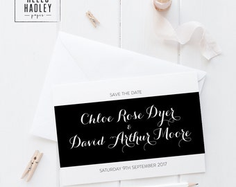 Printable wedding save the date card - Moore collection