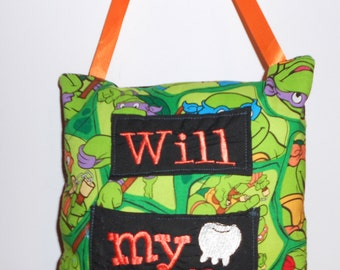 Ninja Turtles Tooth fairy pillow