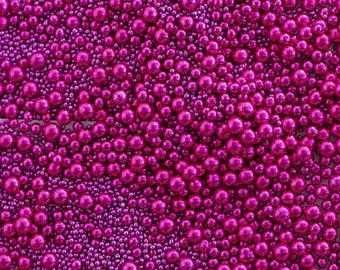 Sweetapolita Luxe Sprinkles- Princess Beads (Bright Pink Dragees) 3.5oz & 7oz.
