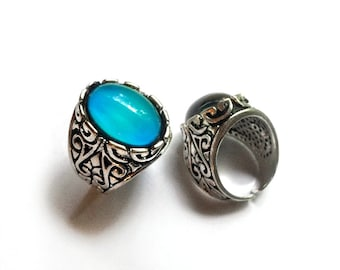 Mood Ring // Mood Jewelry // Antique Silver Mood Ring // Real Mood Ring // Mood Stone