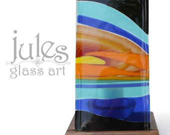 Sunset Glass Candle Holder
