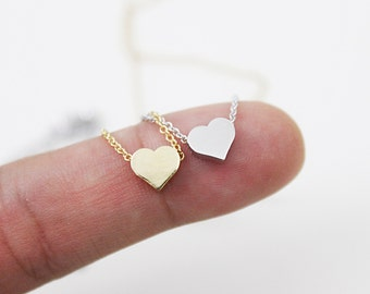 Tiny Heart Charm Necklace Simple and Modern Necklace Dainty Necklace Bridesmaid Gift Bridesmaid Necklace