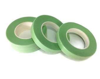 Floral Tape Foral Light Green Glue Cohesive 12 mm Pair Artificial Flower 30 Yards 4 Rolls