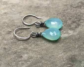 Tidepool - Chalcedony and Sterling Silver Earrings