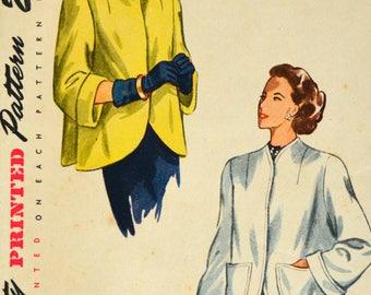 Uncut 1940s Simplicity Vintage Sewing Pattern 2380, Size 16; Misses' and Women's Coat
